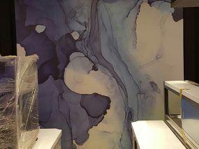 玖陽視覺 牆面木作貼圖 大圖輸出 貼圖施工