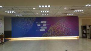 玖陽視覺 公司形象外牆 大圖輸出 貼圖施工