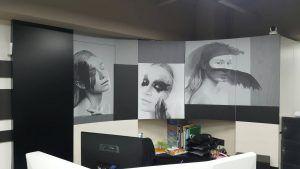 玖陽視覺 公司櫃檯形象牆 大圖輸出 貼圖施工