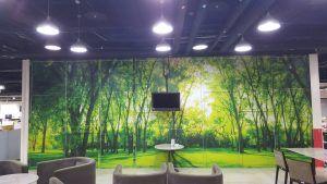 玖陽視覺 會議室形象牆 大圖輸出 貼圖施工
