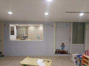 玖陽視覺 教室牆面美化 大圖輸出 貼圖施工