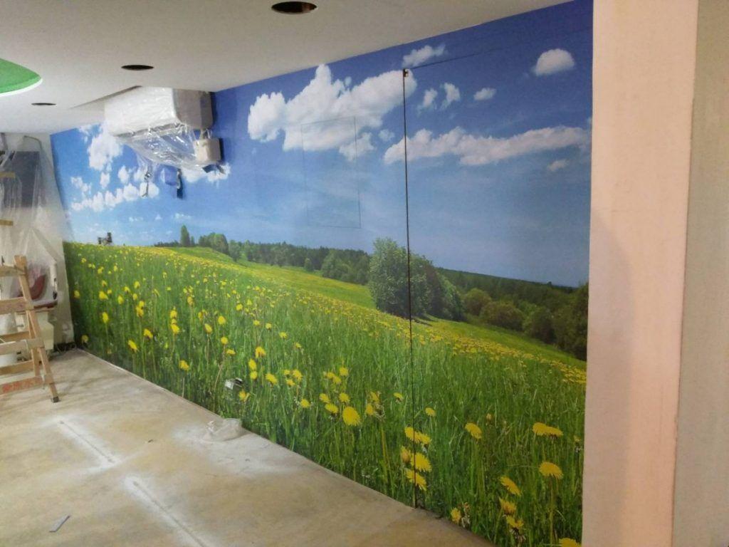 [玖陽視覺]牆面美化 大圖輸出 貼圖施工