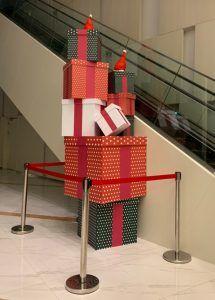 玖陽視覺 聖誕陳列佈置 大圖輸出 貼圖施工