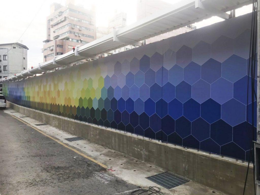 [玖陽視覺]圍籬美化 大圖輸出 貼圖施工