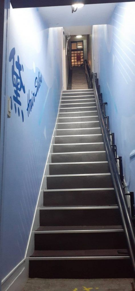 [玖陽視覺]樓梯壁面美化 大圖輸出 貼圖施工