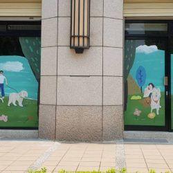 玖陽視覺 門市玻璃美化 大圖輸出 貼圖施工