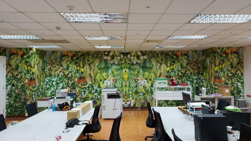 [玖陽視覺]辦公室美化 大圖輸出 貼圖施工