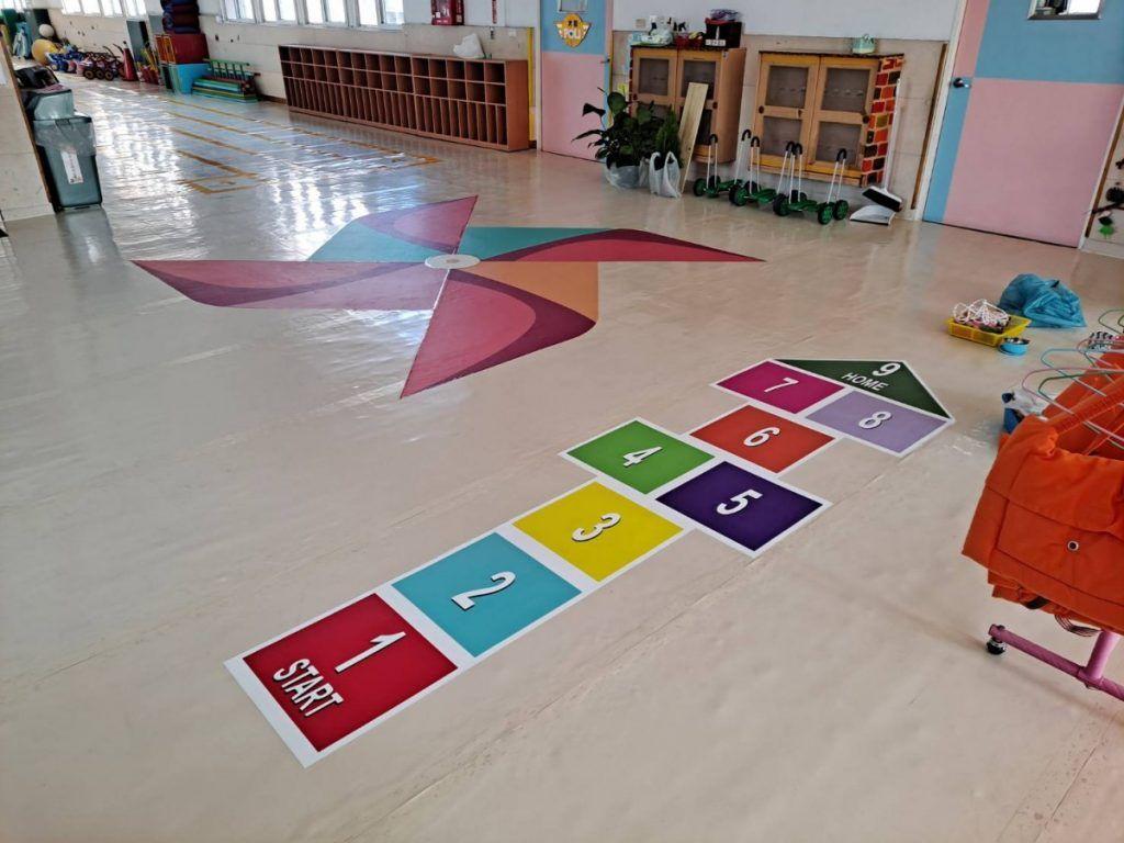 [玖陽視覺]幼兒園地貼 大圖輸出 貼圖施工