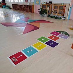 玖陽視覺 幼兒園地貼 大圖輸出 貼圖施工