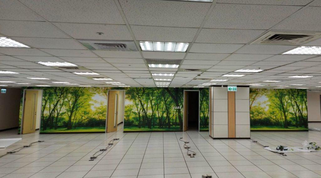 [玖陽視覺]辦公室牆面美化 大圖輸出 貼圖施工