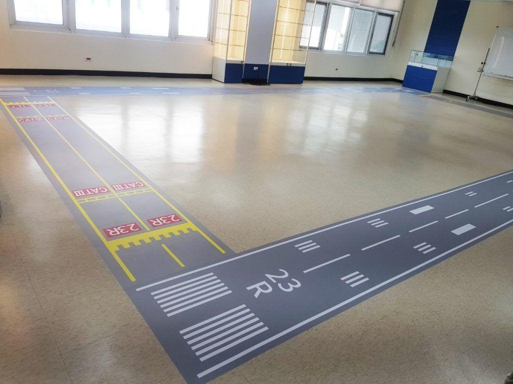 [玖陽視覺]跑道地貼 大圖輸出 貼圖施工