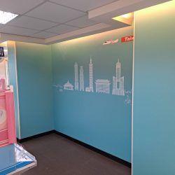 玖陽視覺 店面牆面美化 大圖輸出 貼圖施工
